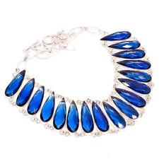 """Kyanite Gemstone Handmade Silver Jewelry Necklace 16-18"""" N-11780"""