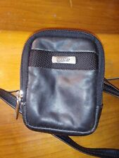 Kenneth Cole Reaction Mini Cross-Body Bag Purse Hide-Away Strap Belt Loop Black