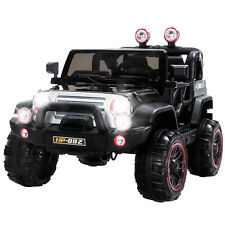 Black 12V Kids Ride on Cars Electric Battery Power Wheel Remote Control 4 Speed