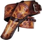 Modestone 357/38 Left Cross Draw High Ride/Rise Holster Gun Belt Leather