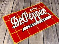 VINTAGE DRINK DR. PEPPER ADVERTISING METAL 12' SODA STORE SIGN GAS OIL POP DRINK