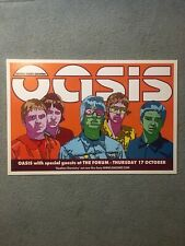 Oasis Original Concert Poster The Forum 2002 Australia