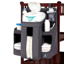hiccapop Nursery Organizer Baby Diaper Caddy Hanging Organization Storage Crib
