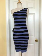 BEBE striped dress size M one shoulder