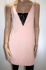 ASOS PETITE Brand Peach Textured Lace Detail Bodycon Dress Size 16 BNWT #SZ68