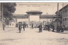 LYON expo internationale 1914 entrée avenue leclerc écrite