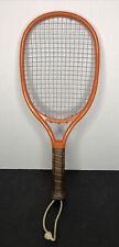 Vintage 1970's Leach Bandido Racquetball Racquet San Diego Orange Leather Grip