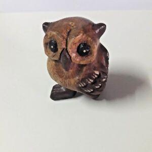 Wooden doll owl cumulative decorate taste antique valuable of mind culture rare