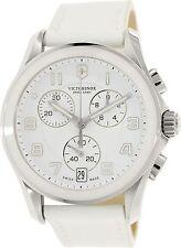 Victorinox Swiss Army Women's Classic 241500 White Leather Swiss Chronograph Fas