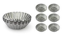 6 un. Acero Inoxidable Cupcake Molde 7cm-Reutilizables Pastelería Tarta/MUFFIN CASOS Tazas