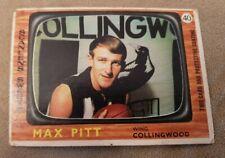 VFL 1967 SCANLENS MAX PIT FOOTBALL CARD 40 COLLINGWOOD AFL