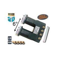 HD-LINE Doppel LNB MONOBLOCK QUAD 0,1DB FULL HD 3D READY ASTRA HOTBIRD 4 Teiln