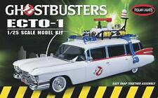 Polar Lights 1/25 Ghostbusters Ecto-1 Cadillac Snap Plastic Model Kit #914