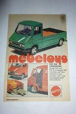 ADVERTISING PUBBLICITA' MEBETOYS MATTEL Fiat 242 camioncino  - 1977