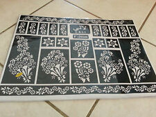 Self Adhesive Decal Stencils For Henna temporary tattoo