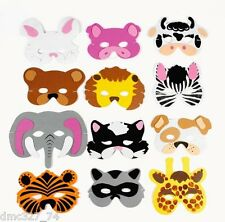 12 Birthday Party ZOO SAFARI Farm Party Favor ANIMAL FOAM MASKS Child Size Kids
