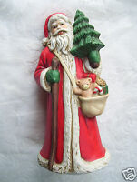 """Musical 9"""" Santa plays """"We Wish You A Merry Christmas"""" With  Bear Tree & Gifts"""