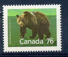 Weeda Canada 1178i VF mint NH 76c Grizzly Bear, scarce Slater paper CV $5