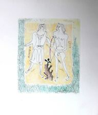 Georges Braque Original Dry Point Etching With Coloring Eros And Eurybia 1932