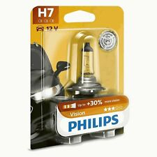 Philips Vision Halogen H7 Car Headlight Bulbs (Twin Pack)