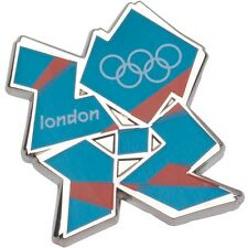 Olympics London 2012 Blue & Orange Logo Pin - New and Sealed £2.49