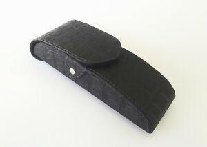 Vertical Waist Case for Glasses, Black PU Leather Eyeglasses Belt Case