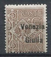 Venezia Giulia 1918 Sass. 19 Nuovo ** 100% Soprastampato 1 c bruno