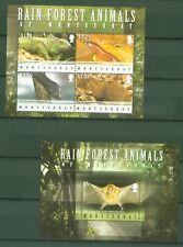 Montserrat 2009 - Regenwald - Fledermaus Leguan Aguti Natter 1476-79 + Block 129