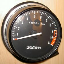 1980s Ducati 0664-38-030 NOS 11,000 RPM ND tachometer matches either speedometer