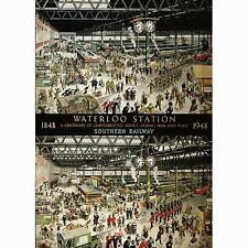 GIBSONS WATERLOO STATION CENTERNARY RAILWAY TRAINS 1000 PIECE JIGSAW PUZZLE