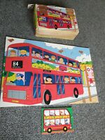 Falcon My First Jigsaw Puzzle 4288 Red Bus Extra Thick 15 pieces Complete