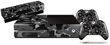 Old School Camouflage Camo Black Skin Set fits XBOX One Console Controllers