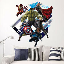 New 3D Avengers Hulk Wall Stickers Childrens Bedrooms Home Decorations Decals
