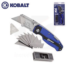Kobalt Quick Change Folding Lockback Utility Knife with 11 Blades