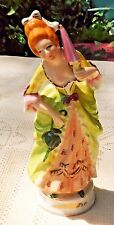 VINTAGE 1945-52 OCCUPIED JAPAN HAND PAINTED MORIYAMA PORCELAIN WOMAN FIGURINE