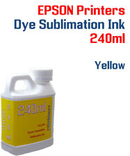 Dye Sublimation Ink - Yellow 240ml bottle - Epson printers