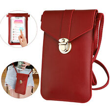 Women Cell Phone Purse Bag Shoulder Strap Touch Screen Cross-Body Pouch Wallet