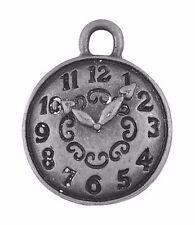 20 Tibetan Silver Clock Face Charm Alice In Wonderland 15mm Watch Pendant