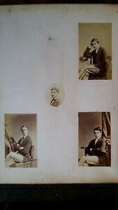 1860'S ANTIQUE PHOTOGRAPH ETON COLLEGE SCHOOLBOYS & ST GEORGE'S CHAPEL WINDSOR