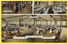 CPA GERMANY USINE FACTORY LEIPZIG Maschinenfabrik KARL KRAUSE Industrie Papier