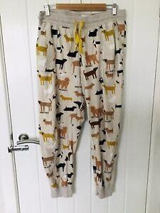 Next Ladies Dog Print Pj Bottoms Size 16-18