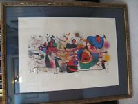 Miro Lithograph - Ceramiques IV  (1974)