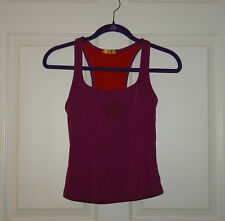 Women's Shiva Shakti Purple Racerback Tank Shelf Bra Size Medium Made in USA