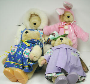 North American Bear Muffy Bears Lot of 4 With Hang Tags Teacup Artist Bunny