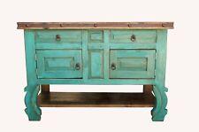 """Rustic Yugo Turquoise Bathroom Vanity 48"""" wide"""
