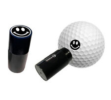 SMILEY BLACK - ASBRI GOLF BALL STAMPER, GOLF BALL MARKER - GOLF GIFT OR PRIZE