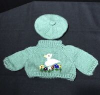 Bear Land Knit Sweater and Hat Clothes Green Duck