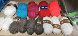 Job lot 14 x yarns Terry sirdar  Wool Knitting Crochet Pompom Crafts Toy Bundle