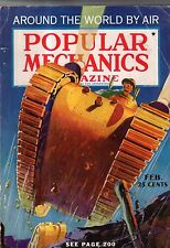 1937 Popular Mechanics February - London broadcasts TV; Bay Bridge opens; Tuna