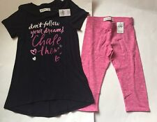 NWT Abercrombie Kids Don't Follow Your Dreams Top & Cropped Leggings XS/S
